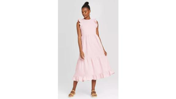 Universal Thread Women's Sleeveless Tiered Ruffle Dress