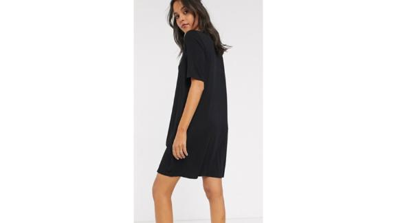 Asos Design Tall Swing T-Shirt Dress With Concealed Pockets