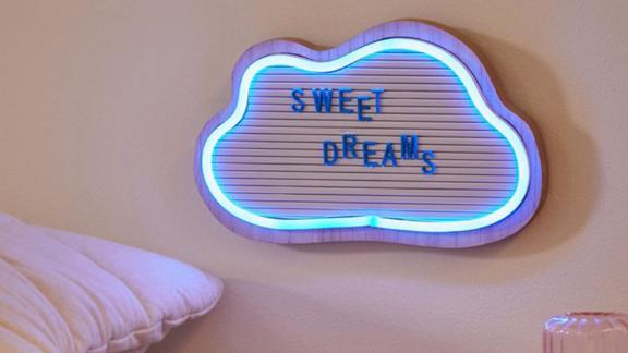 Brilliant Ideas Cloud Message Board LED Neon Sign