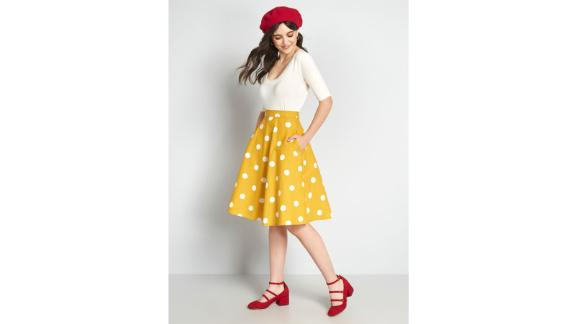 ModCloth x Collectif Good Golly A-Line Skirt