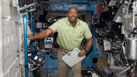 Melvin aboard the space station in 2009.
