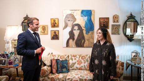 French President Emmanuel Macron began his visit to Lebanon with a dinner with the cultural icon and singer Fairuz.