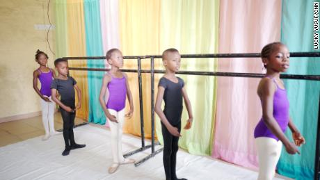 Daniel Ajala teaches 12 students to dance ballet in his Lagos home