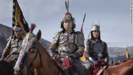 Donnie Yen (center) in 'Mulan.'