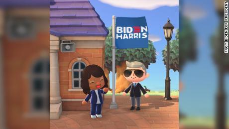 Hay letreros de cuatro yardas disponibles que apoyan la campaña de Biden.