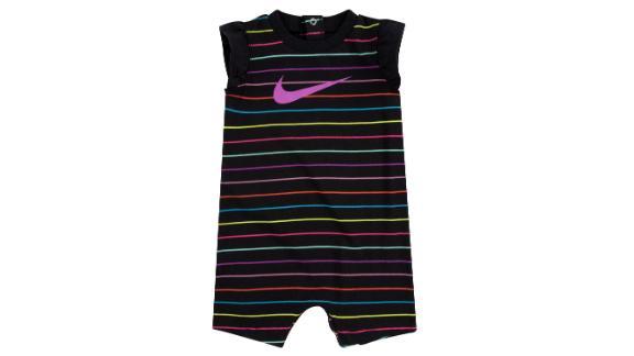 Nike Baby Girls Striped Romper