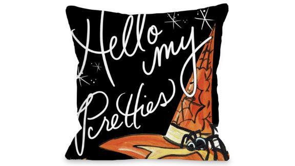 Halloween Hello Pretties Throw Pillow
