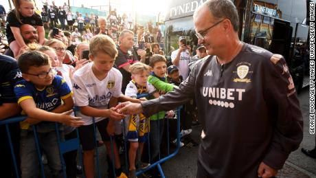 Bielsa has been fully embraced and welcomed into the Yorkshire cummunity by Leeds United fans.