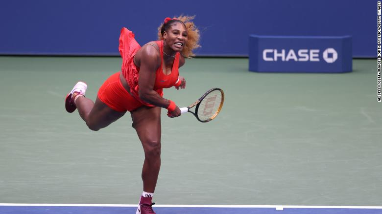 Serena Williams sets a new record at the US Open with victory over Kristie Ahn.