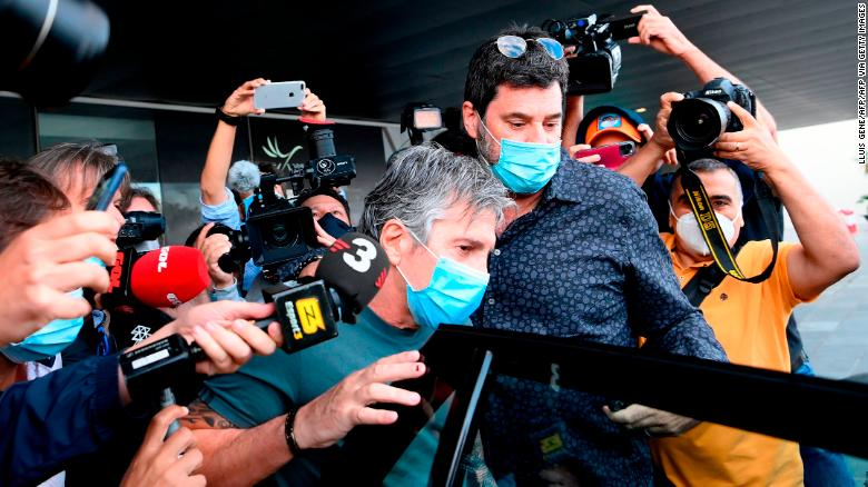 Jorge Messi, father and agent of Lionel Messi arrives at his apartment in Barcelona on September 02, 2020.