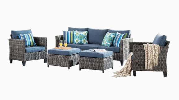 Ovios Vultros 5-Piece Patio Set With Cushions