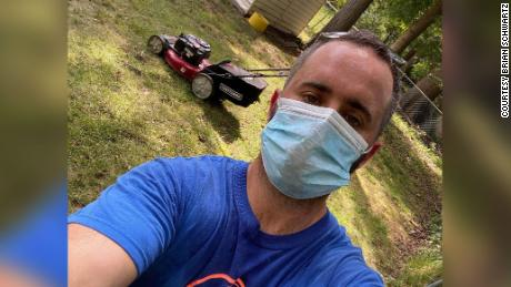 Brian Schwartz lost his job due to the pandemic. Now he's spending his time mowing lawns for senior citizens and veterans at no charge