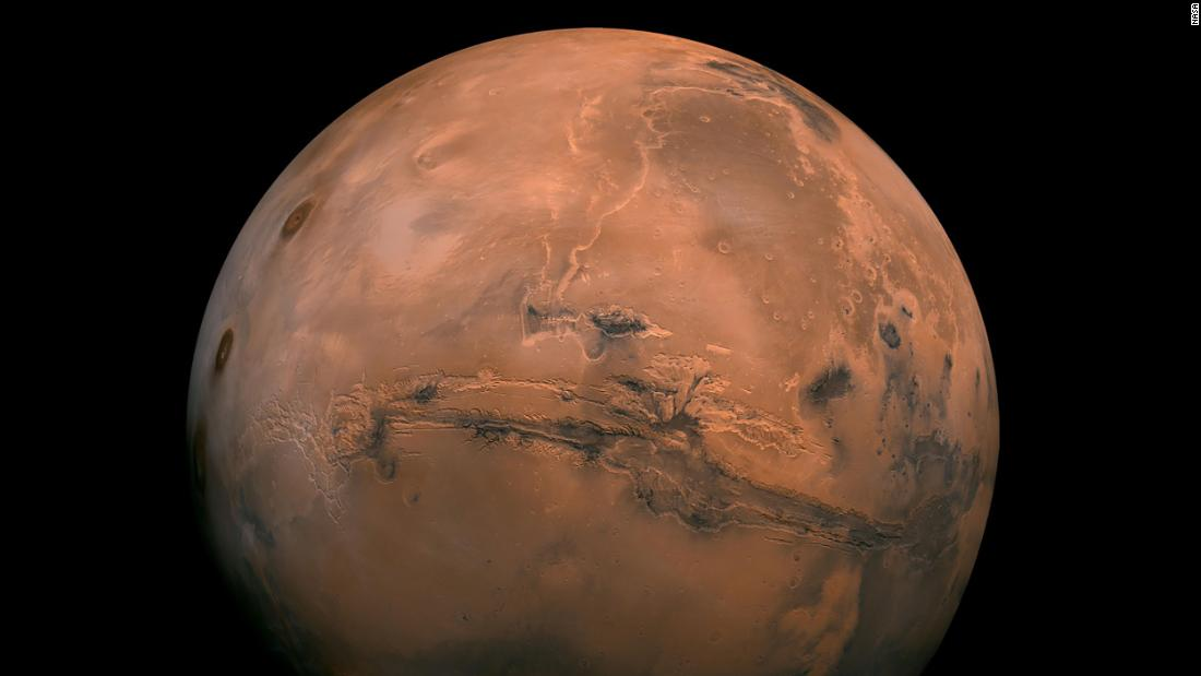 Mars, the fourth planet from the sun, has days that are roughly as long as Earth days. But it's a smaller planet, its temperatures average -81 degrees Fahrenheit, and its atmosphere is much thinner and comprised mostly of carbon dioxide.