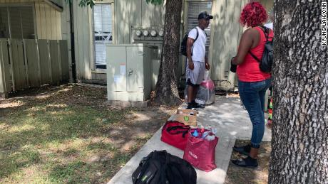 This Houston couple was among those evicted.