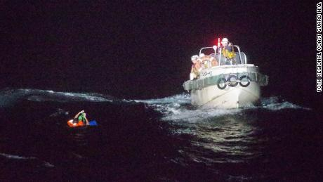 Japan's 10th Regional Coast Guard said it rescued a man who is believed to be a crew member of a missing cargo ship.