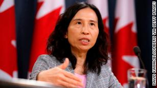 Theresa Tam, Canada's chief public health officer, said sex should be avoided if either partner had Covid-19 symptoms.
