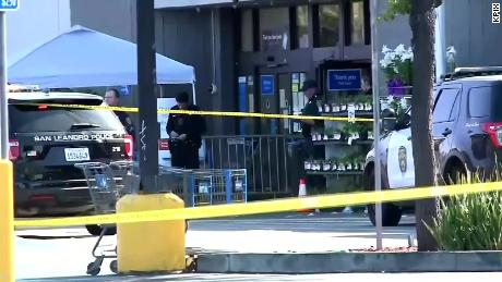 Officials respond to the incident in April at Walmart in Northern California.
