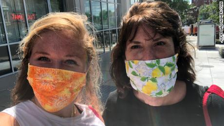 Julie Gallagher with her mom, Lynne, in Washington DC, this summer. They became more connected while sheltering from the pandemic.