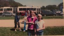 Julie Gallagher, here with her childhood best friend on a 5th grade trip to Washington DC in 2006. Her eating disorder was already taking hold.