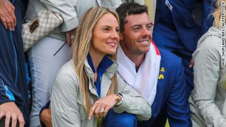 Erica Stoll and Rory McIlroy.