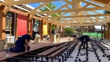 Madrid's British Council School was already constructing a new open-air extension to its cafeteria, and is now installing six pre-fabricated mobile classrooms.