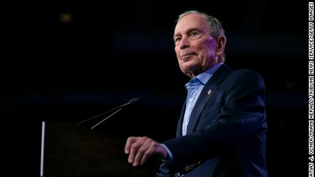 Democratic presidential candidate Mike Bloomberg speaks during a rally at the Palm Beach County Convention Center in West Palm Beach, Florida on March 3, 2020.