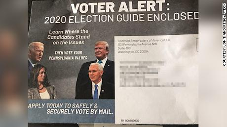 This mailer was sent by a dark money group to Pennsylvania voters last month.