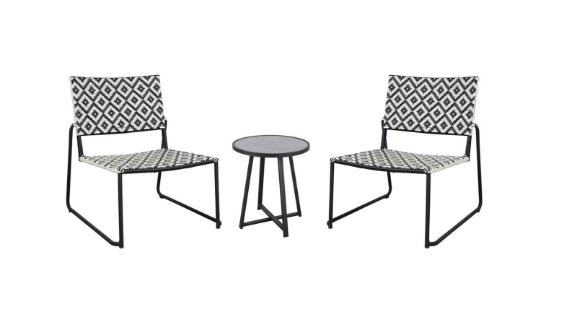 Hampton Bay 3-Piece Wicker Outdoor Patio Folding Bistro Set