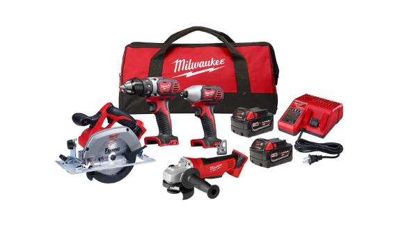 Milwaukee Cordless Combo Tool Kit and Tool Bag