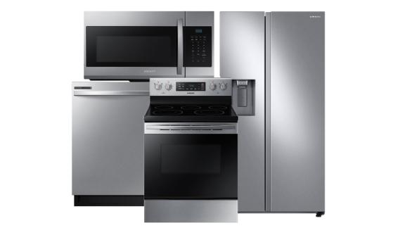 Samsung Stainless Steel Package With Side-by-Side Refrigerator