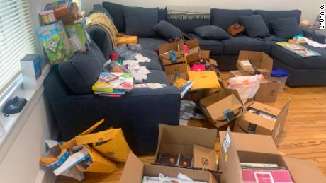 Teacher Laura Ciervo said she has received over 100 packages since comedian Erin Foster shared her Amazon wish list on her Instagram story three weeks ago.