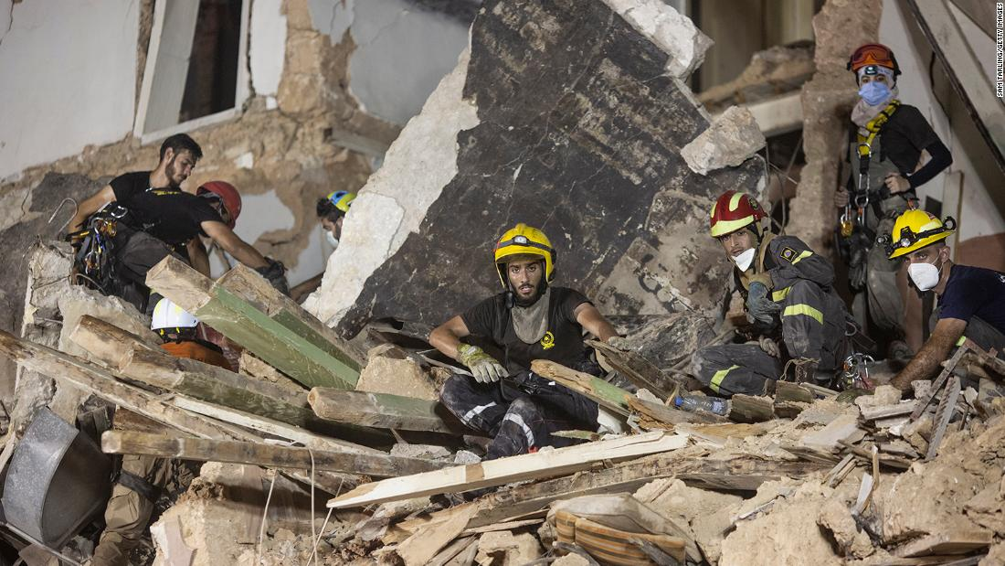 No one alive under rubble of building 30 days after blast, Beirut search team says