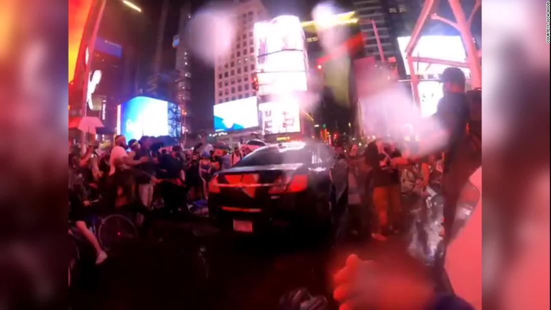 NYPD investigating car that plowed into a group of BLM protesters in Times Square – CNN