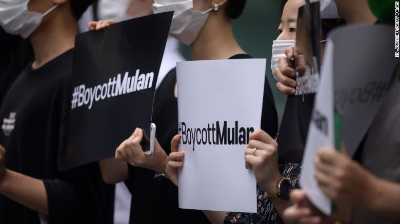 Pro-democracy activists are again calling on people to boycott 'Mulan'
