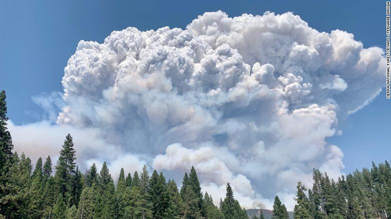 Campers warned to shelter in place as wildfire rages near a reservoir in Northern California