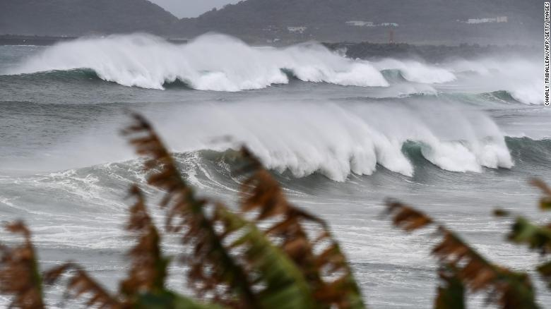 Thousands evacuated as powerful Typhoon Haishen barrels toward Japan and the Korean Peninsula