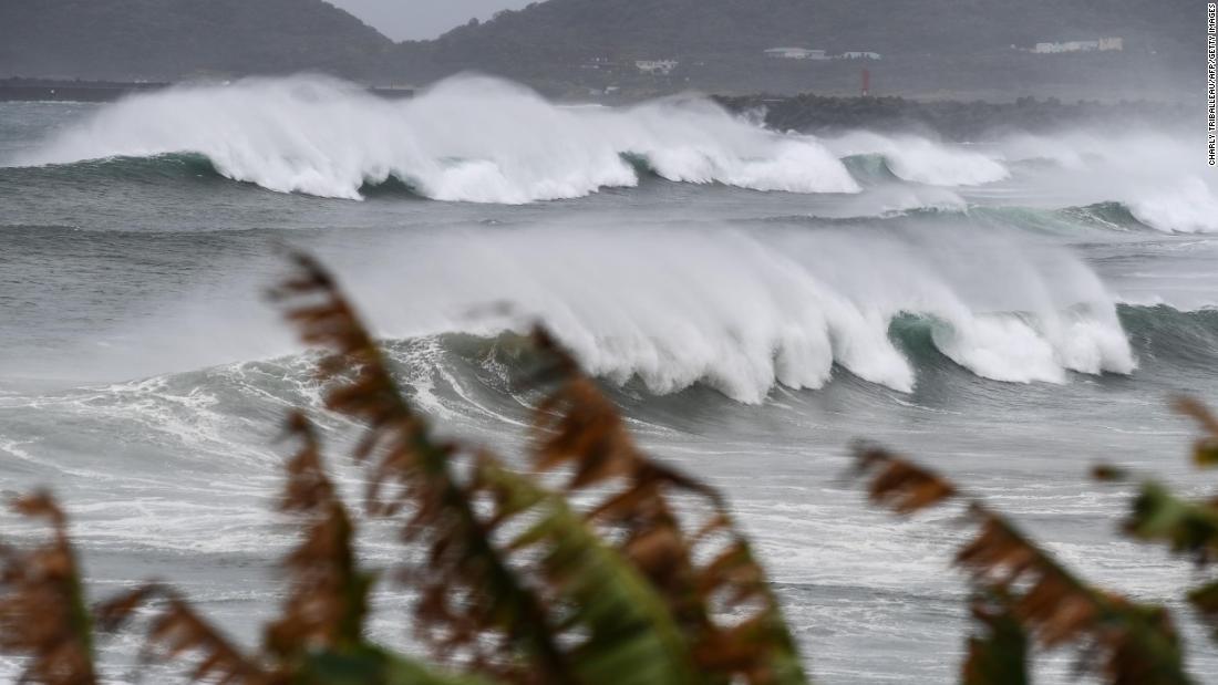 Thousands evacuated as typhoon barrels toward Japan and the Korean Peninsula