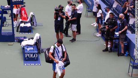 Novak Djokovic Sad And Empty After Being Defaulted From Us Open For Striking Line Judge With Ball Cnn