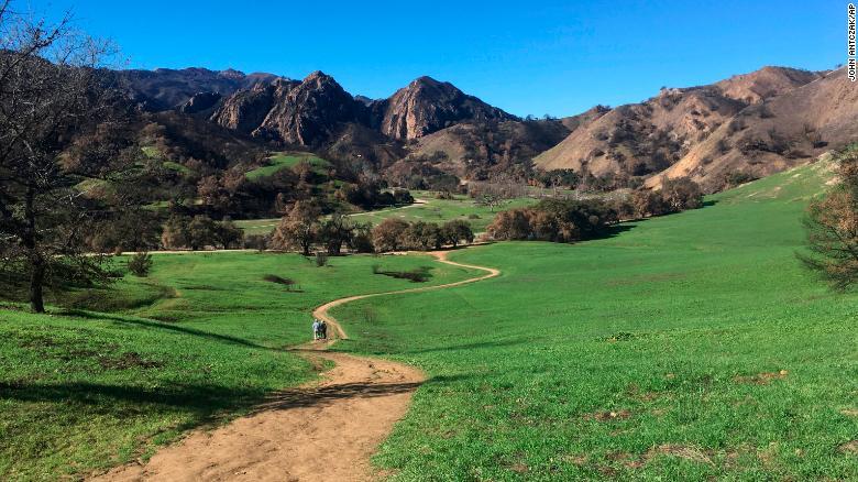 The woman was hiking in Malibu Creek State Park, authorities said.