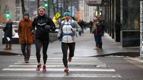 Njeim switched from skiing to marathon running.