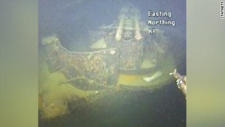 The wreckage lay undetected on the seabed for 80 years.