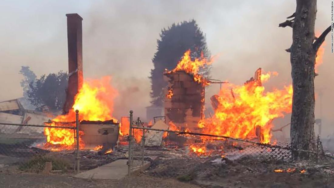 80% of the buildings in an eastern Washington town were destroyed during a Labor Day firestorm – CNN