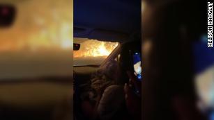 俄勒冈州一家人试图逃离野火时耗尽了汽油