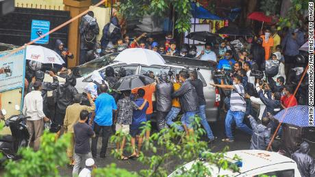 Bollywood actor Rhea Chakraborty with brother her Showik before they were questioned by the Central Bureau of Investigations in connection with Sushant Singh Rajput's death.