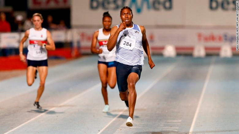 Semenya competes in the women's 200m final during the Athletics Gauteng North Championships in Pretoria in March.