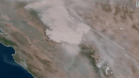 The Creek Fire is creating massive thunderhead clouds that are fueling its growth