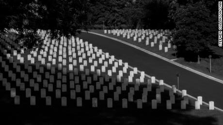 Arlington National Cemetery in Virginia on May 30, 2020. (Stephen Collinson)