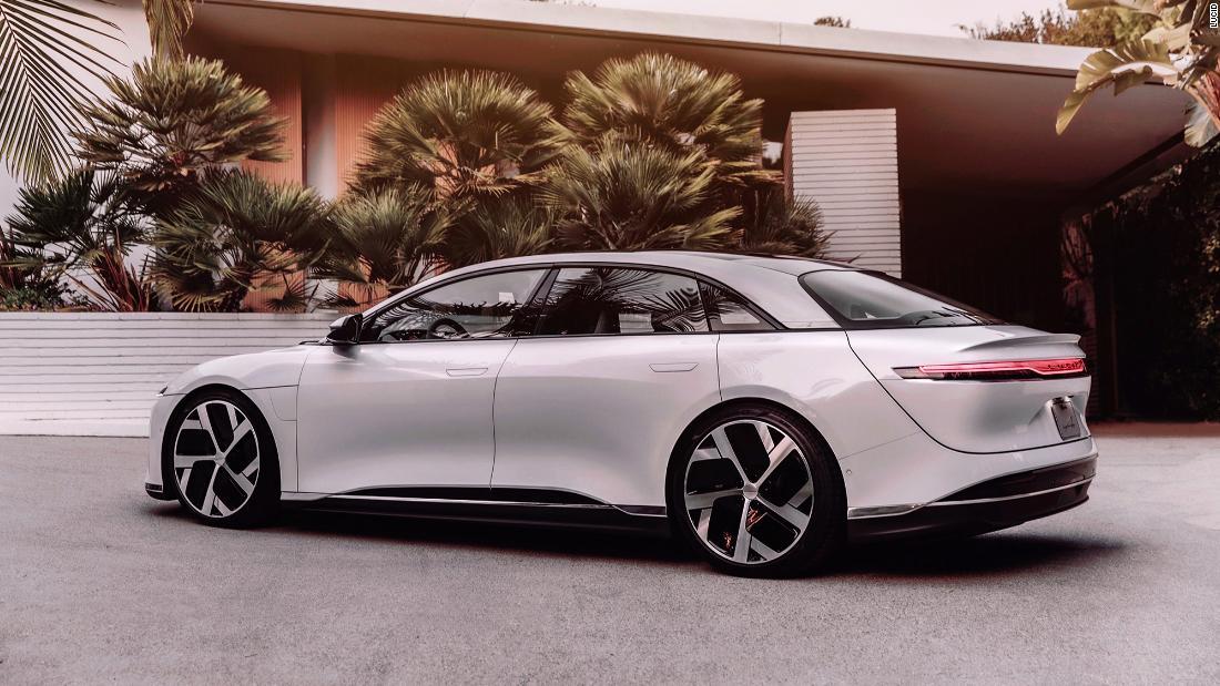 Lucid Motors unveils line of super powerful electric sedans