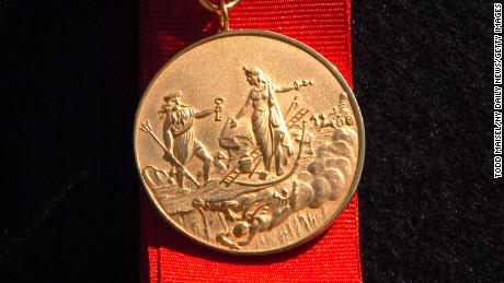 The James Gordon Bennett medal, pictured here, has been renamed the Chief of Department Peter J. Ganci, Jr. Award.