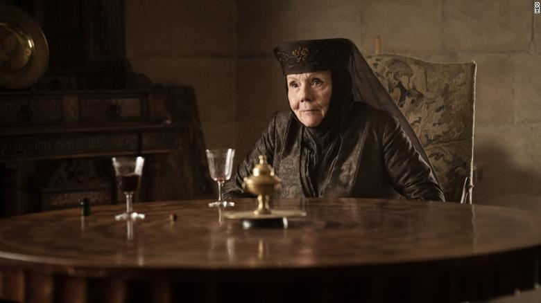 "Rigg found fame with a new generation of fans as Lady Olenna Tyrell in ""Game of Thrones."""